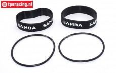 SAM4811Z Samba Exhaust rings Ø60-Ø70 mm Black, Set
