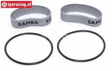 SAM4811S Samba Exhaust rings Ø60-Ø70 mm Silver, Set