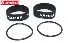 Samba 7112 Exhaust rings, (Ø50-Ø60, Blackt), Set