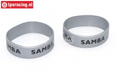 Samba 7114 Exhaust rings, (Ø50-Ø60, Black Silver), 2 pcs.