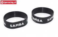 SAM7114Z Samba Exhaust ring Ø50-Ø60 Black, 2 pcs.