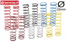 TPS0351 HD Shock spring long LOSI-BWS, 12 PCS.