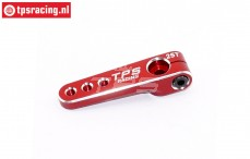 TPS0800/04 Aluminium Servo arm 25T-L40 mm Red, 1 pc.
