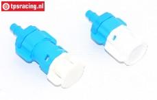 Brandstof slang snel koppeling met beschermer, (Ø3-Ø4 mm), Set