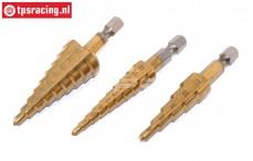 TPS0245 Step drill HSS-Titanium 2-20 mm, Set