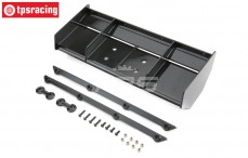 TLR250001 Wing and wicker bills black TLR 5IVE-B, Set