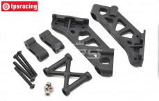 TLR250003 Wing mount with brace TLR 5IVE-B, Set