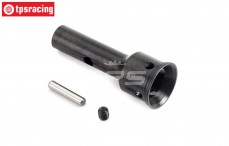TLR252004 Stub axle, Boot version, front/rear V2, (5B-5T-MINI 4WD), 1 pc.