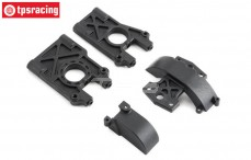 Center Differential mount, (5B-5T-MINI 4WD), (Plastic), Set