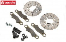 TLR252011 Brake Disk, Pad & Screw 5B-5T-MINI, Set