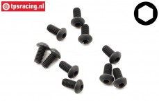 TLR255001 Button Head Screw M2,5-L6 mm, 10 pcs