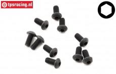 TLR255001 Button Head Screw M2,5-L6 mm, 10 pcs
