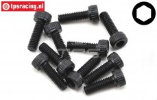 TLR255004 Socket Head Screw M2,5-L8 mm, 10 pcs