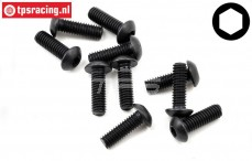 TLR255007 Button Head Screw M4-L20 mm, 10 pcs.