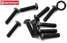 TLR255008 Button Head Screw M4-L16 mm, 10 pcs