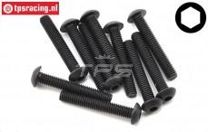 TLR255010 Button Head Screw M4-L25 mm, 10 pcs