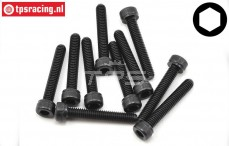 TLR255012 Socket Head Screw M4-L35 mm, 10 pcs