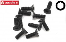 TLR255013 Countersunk Head Screw M4-L12 mm, 10 pcs