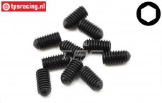TLR255016 Scrub screw M4-L8 mm, 10 pcs.