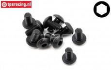TLR255017 Button Head Screw M5-L10 mm, 10 pcs