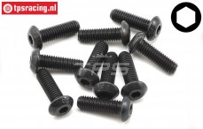 TLR255018 Button Head Screw M5-L16 mm, 10 pcs