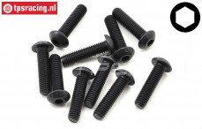 TLR255019 Button Head Screw M5-L 20 mm, 10 pcs