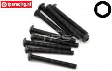 TLR255021 Button Head Screw M5-L45 mm, 10 pcs