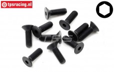 TLR255027 Countersunk Head Screw M5-L16 mm, 10 pcs