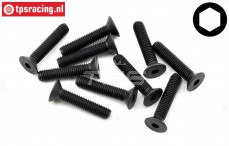 TLR255029 Countersunk Head Screw M5-L25 mm, 10 pcs