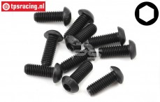 TLR255035 Button Head Screw M6-L16 mm, 10 pcs