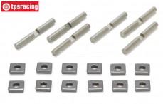 Differentiel Pins & Blocks, (LOSI 5IVE-MINI WRC), (Aluminium), Set