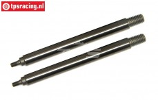 TLR353002 Tuning Shock shaft short 5B-5T-MINI, 2 pcs.