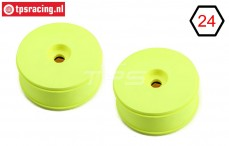 TLR45000 TLR Disk rims Yellow, 2 pcs