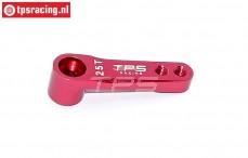 TPS0024/01 Aluminium Servo arm 25T- L32 mm Red, 1 pc.