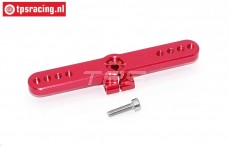 TPS0026 Aluminium Servo arm 15T- L66 mm Red, 1 pc.