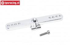 TPS0027 Aluminium Servo arm 15T- L66 mm Silver, 1 pc.