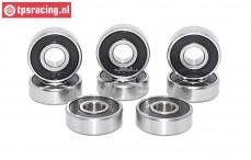 TPS0308/02 Ball bearing Ø8-Ø22-H7 mm, (FG6078/5), 8 pcs.