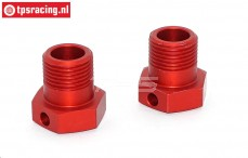 TPS0290 Wheel Hex Red LOSI-BWS-TLR, 2 pcs.