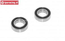 Ball bearing, (Ø10-Ø19-H5 mm), (FG7462), 2 pcs.