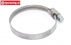 TPS0490/04 Chrome steel hose clamp Ø40-Ø60 mm, 1 pc.