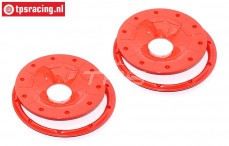 BWS59089/02R Beadlocks Disk Red Ø120 mm, 4 pcs.