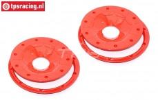 BWS59089/02R Beadlocks Disk Red, 4 pcs.