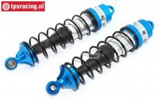 Shockabsorber rear, (LOSI 5IVE-MINI WRC), (Aluminiuml), Set