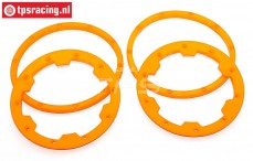 TPS5030/OR HD Nylon Beadlock Orange, 4 pcs.