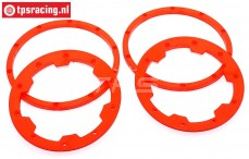 TPS5030/RE HD Nylon Beadlock Red, 4 pcs.