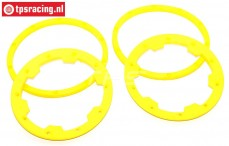 TPS5030/YE HD Beadlock Nylon-Yellow, 4 pcs.