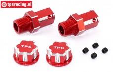 TPS0292/02 24 mm Hexagon Alloy Wheel adapter Red, 2 pcs.