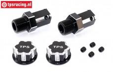 TPS0292/04 24 mm Hexagon Alloy Wheel adapter Black, 2 pcs.