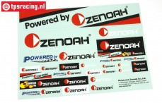 ZN8000 Powered by Zenoah Decals, 1 pc.